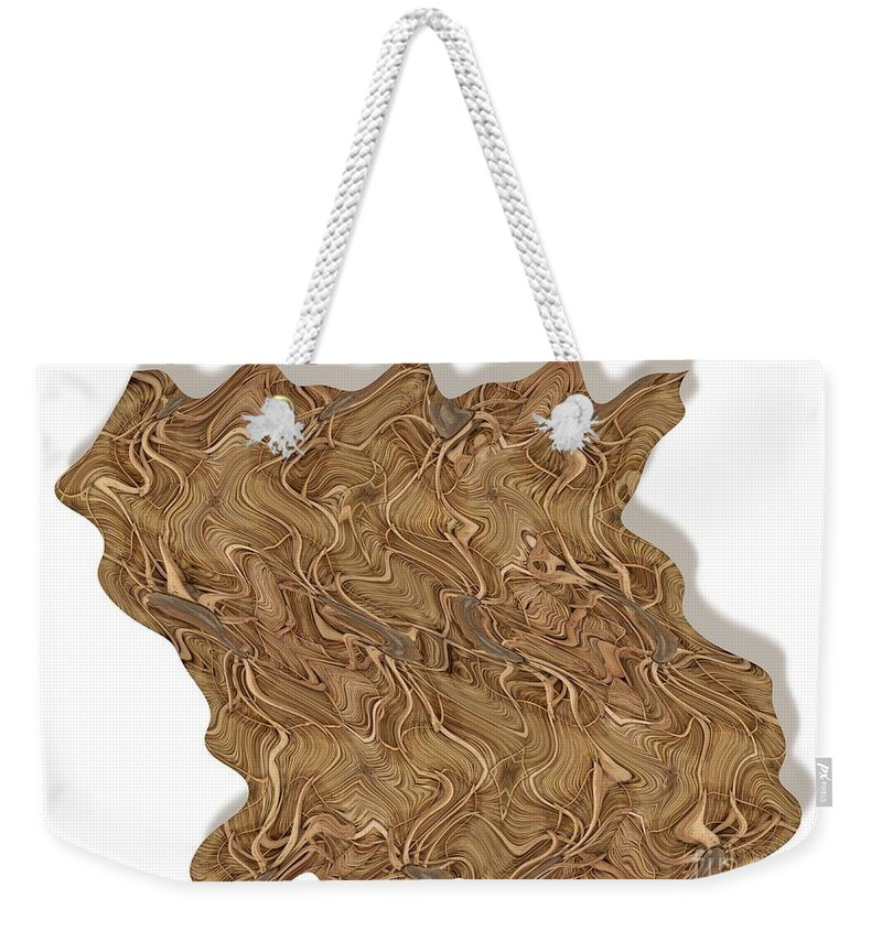 Abstract Weekender Tote Bag featuring the digital art Grass Works by Ron Bissett