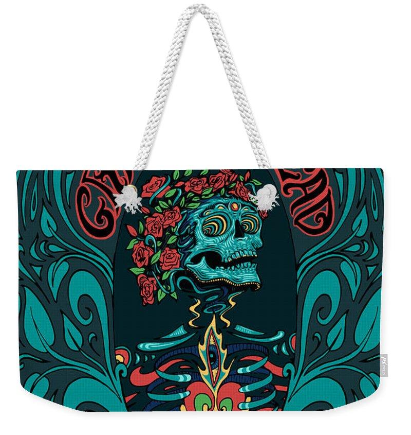 Grateful Dead Weekender Tote Bag featuring the digital art Grateful Dead Santa Clara 2015 by Gd