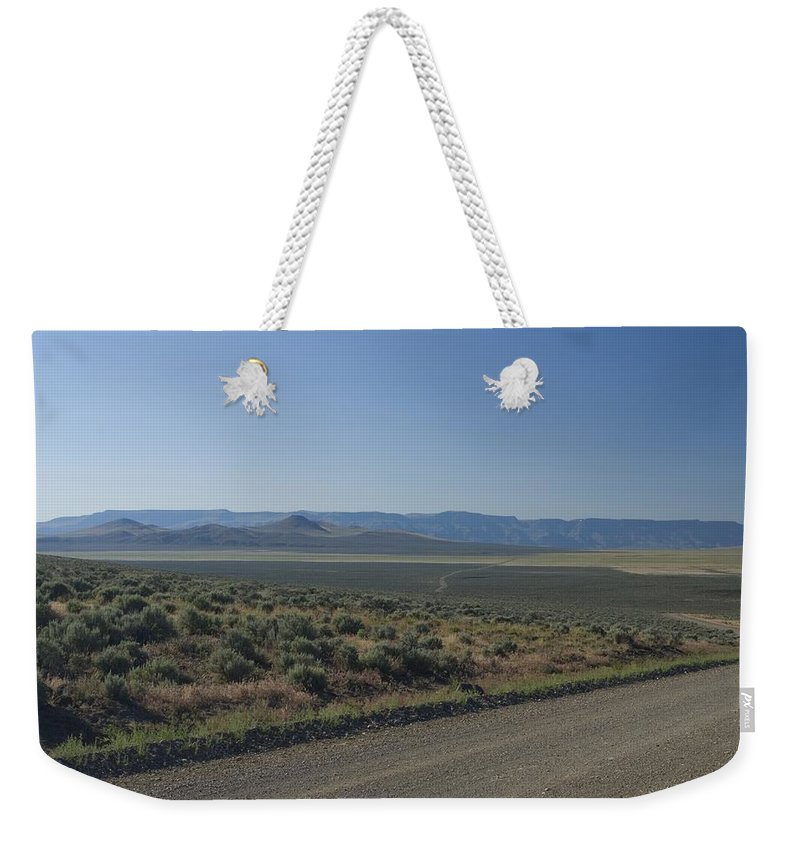 Gravel Weekender Tote Bag featuring the photograph Gravel Road by Sara Stevenson