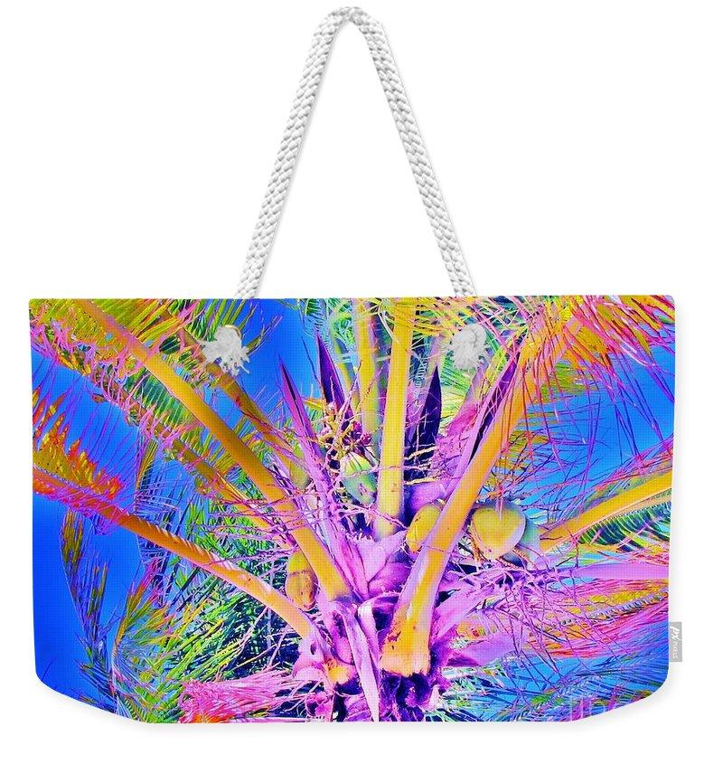Jellee Pix Weekender Tote Bag featuring the digital art Great Abaco Palm by Keri West