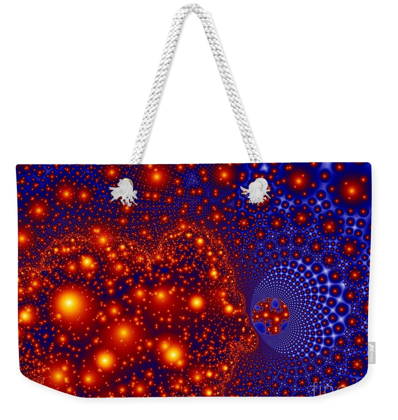 Fractal Art Weekender Tote Bag featuring the digital art Great Balls Of Fire by Ron Bissett