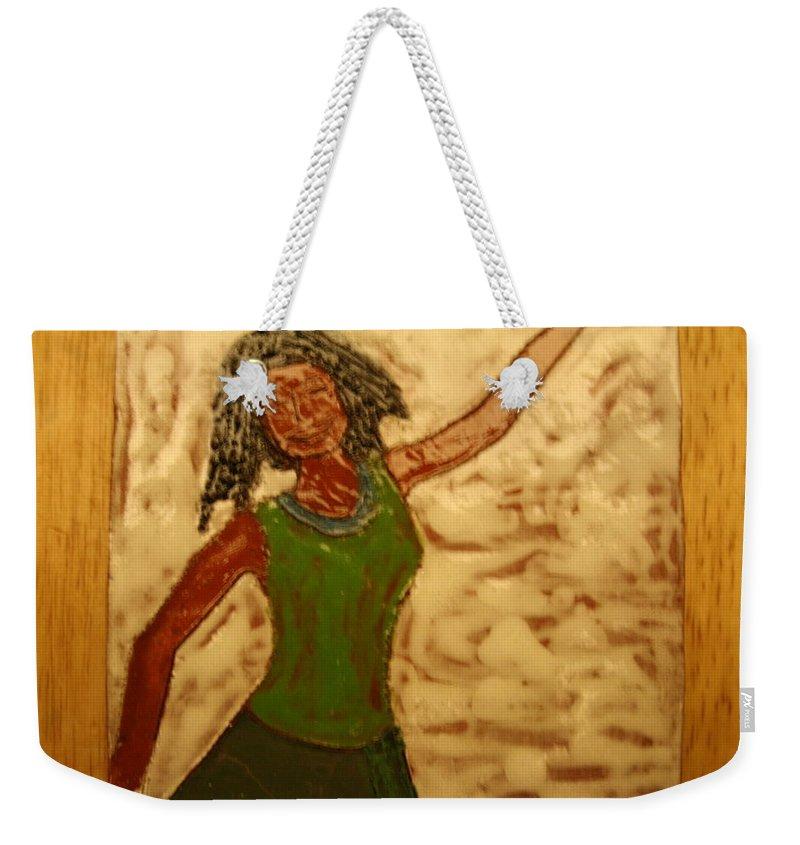 Jesus Weekender Tote Bag featuring the ceramic art Great Change - Tile by Gloria Ssali