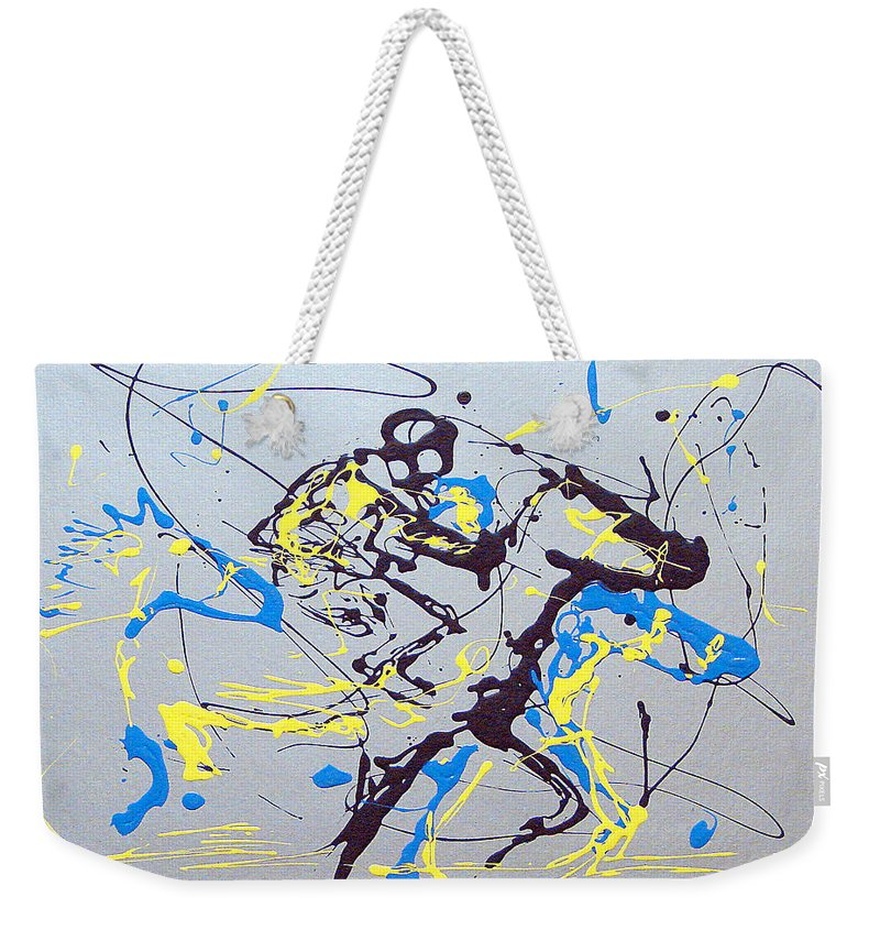 Kentucky Derby Weekender Tote Bag featuring the painting Great Day In Kentucky by J R Seymour