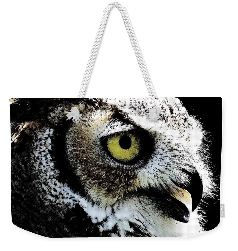 Great-horned Owl Weekender Tote Bag featuring the photograph Great Horned Owl by Rose Santuci-Sofranko