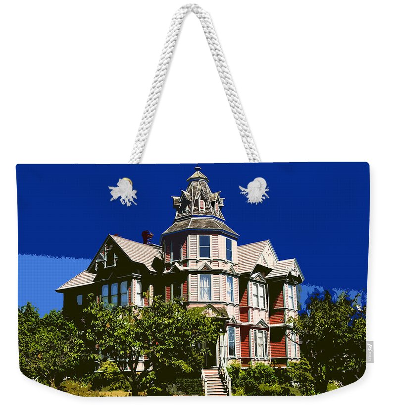 House Weekender Tote Bag featuring the painting Great House by David Lee Thompson