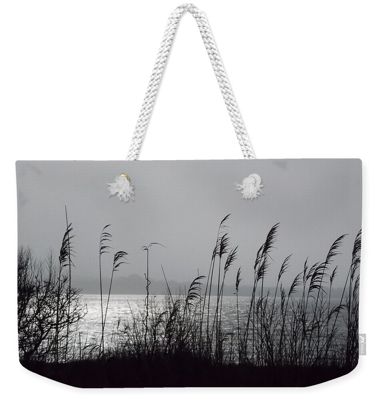 Water Weekender Tote Bag featuring the photograph Great Salt Pond by Kathleen Moore Lutz