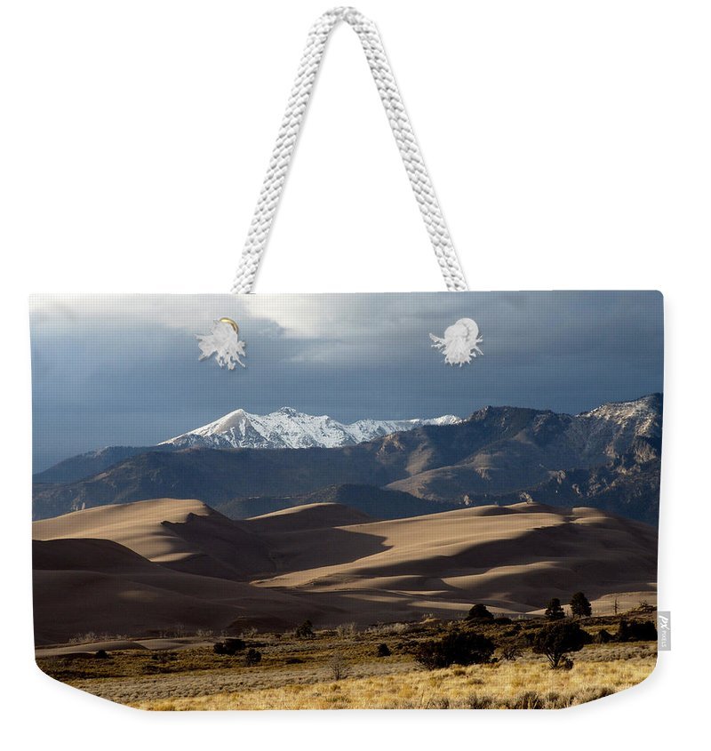 Sand Weekender Tote Bag featuring the photograph Great Sand Dunes National Park by Carol Milisen