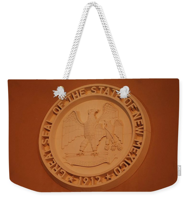 Eagle Weekender Tote Bag featuring the photograph Great Seal Of The State Of New Mexico 1912 by Rob Hans