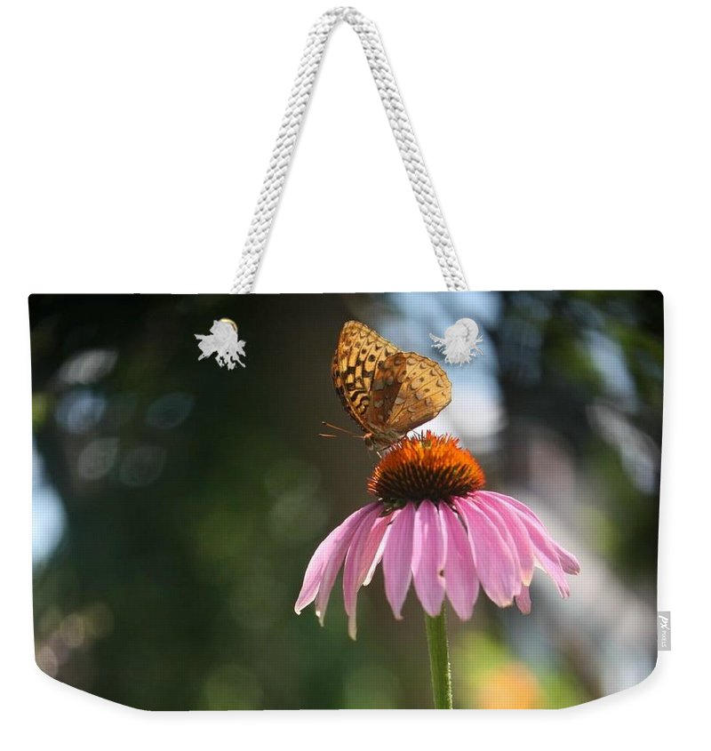 Butterfly Weekender Tote Bag featuring the photograph Great Spangled Fritillary by Debra Sandstrom