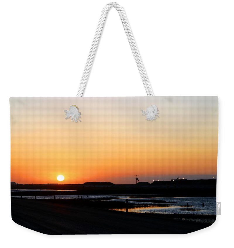 Landscape Weekender Tote Bag featuring the photograph Greater Prudhoe Bay Sunrise by Anthony Jones
