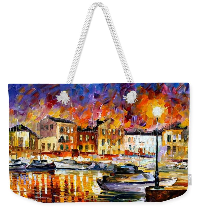Afremov Weekender Tote Bag featuring the painting Greece by Leonid Afremov