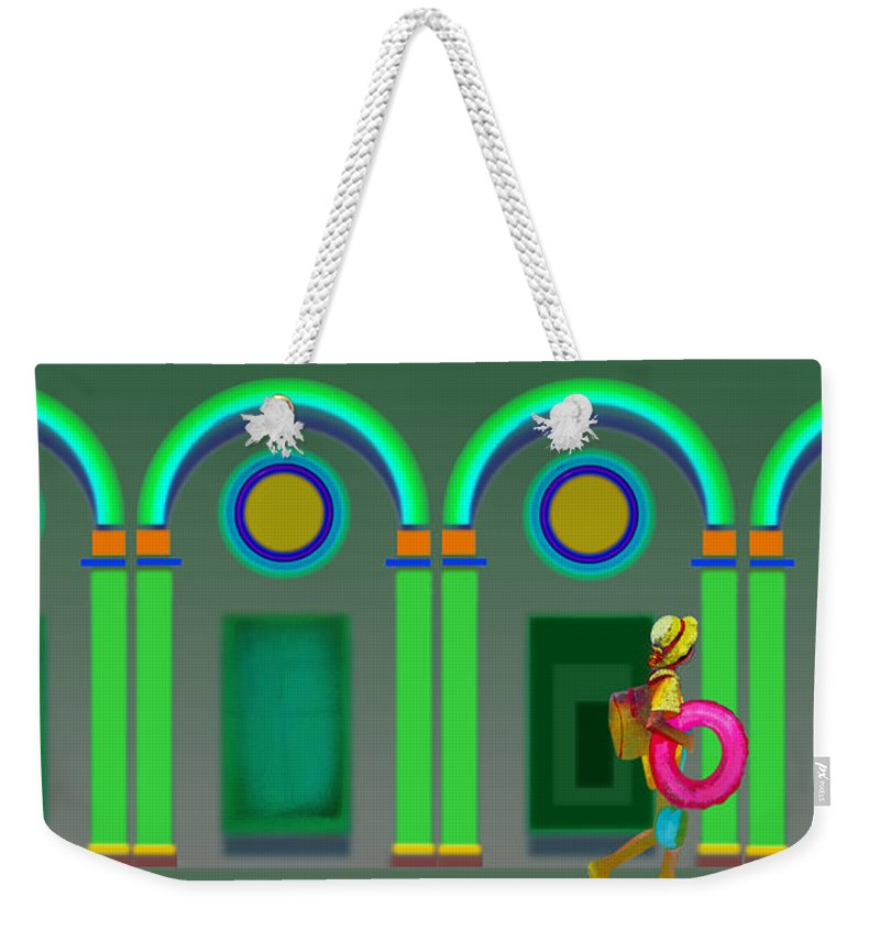 Classical Weekender Tote Bag featuring the painting Green Doors by Charles Stuart
