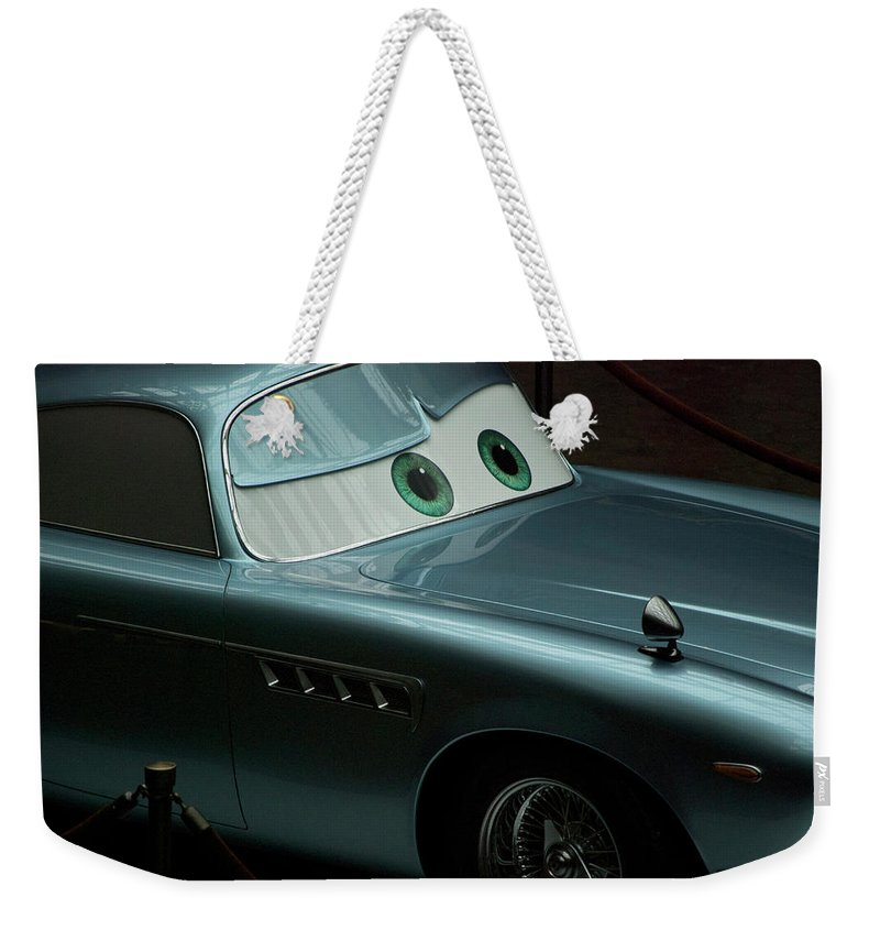 Finn Mcmissile Weekender Tote Bag featuring the photograph Green Eyed Finn McMissile MP by Thomas Woolworth