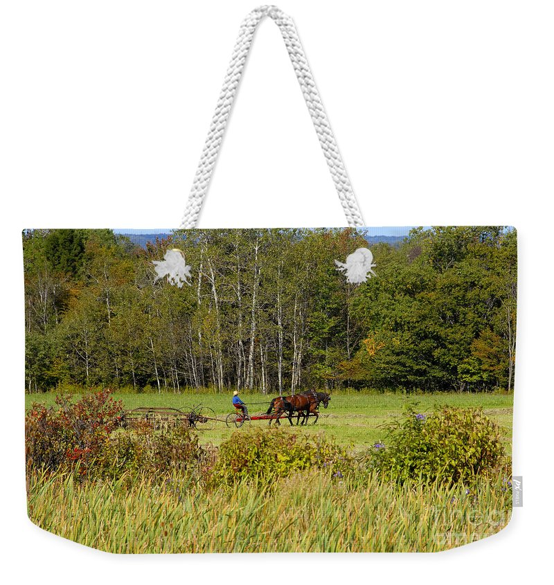 Green Farming Weekender Tote Bag featuring the photograph Green Farming by David Lee Thompson