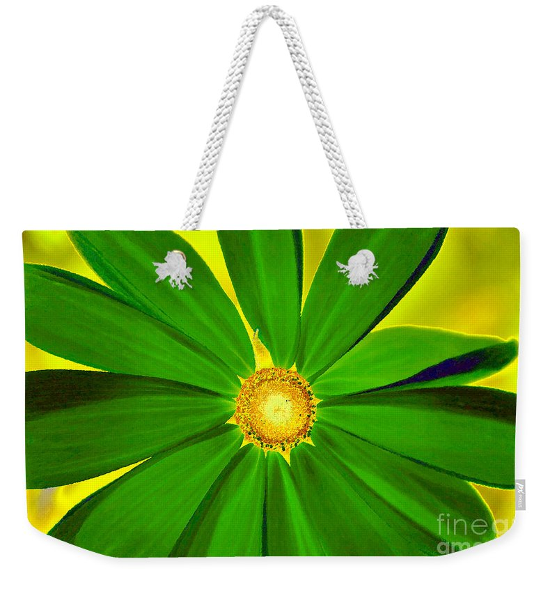 Art Weekender Tote Bag featuring the painting Green Flower by David Lee Thompson