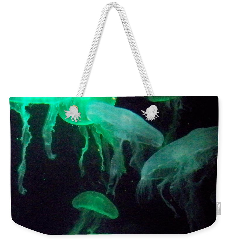 Florida Weekender Tote Bag featuring the photograph Green Freakiness by Chris Andruskiewicz