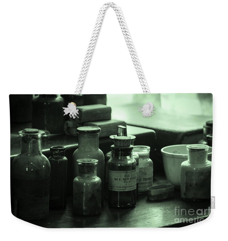 Glass Weekender Tote Bag featuring the photograph Green Glass by Joe Geraci