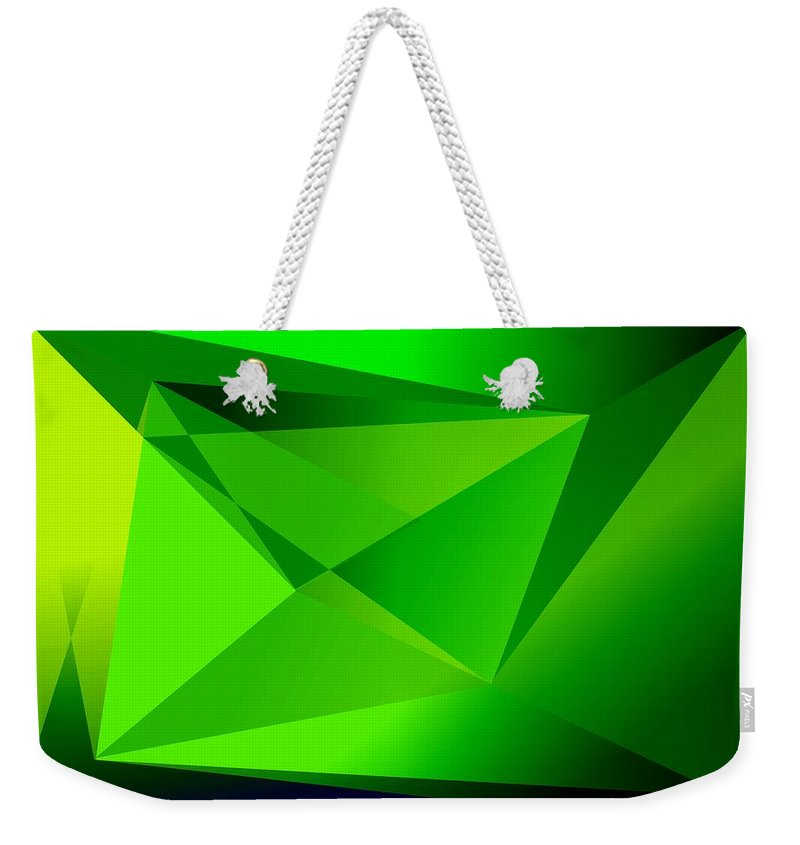 Pyramiden Weekender Tote Bag featuring the digital art Green by Helmut Rottler