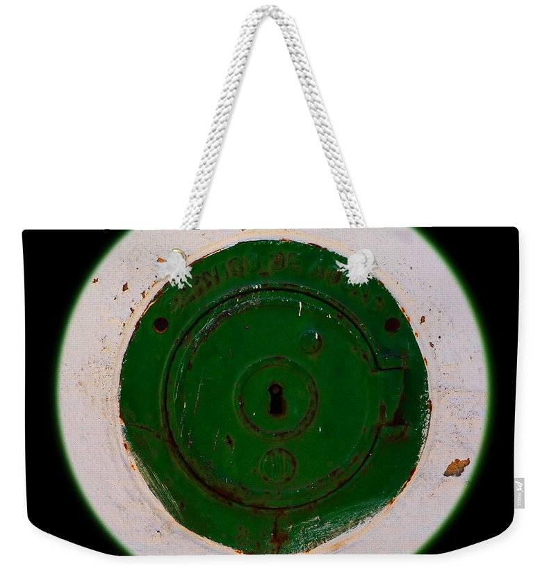 Green Weekender Tote Bag featuring the photograph Green Image by Charles Stuart