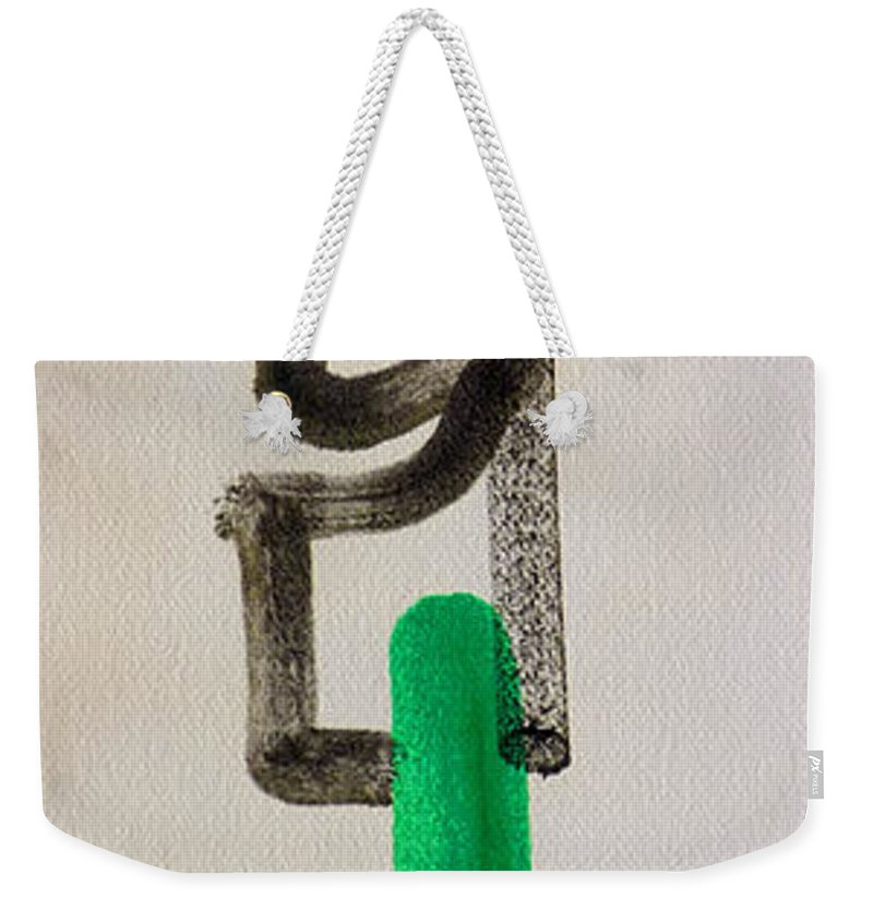 King Weekender Tote Bag featuring the painting Green King by Charles Stuart