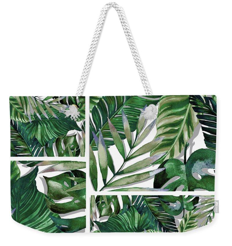 Green Weekender Tote Bags