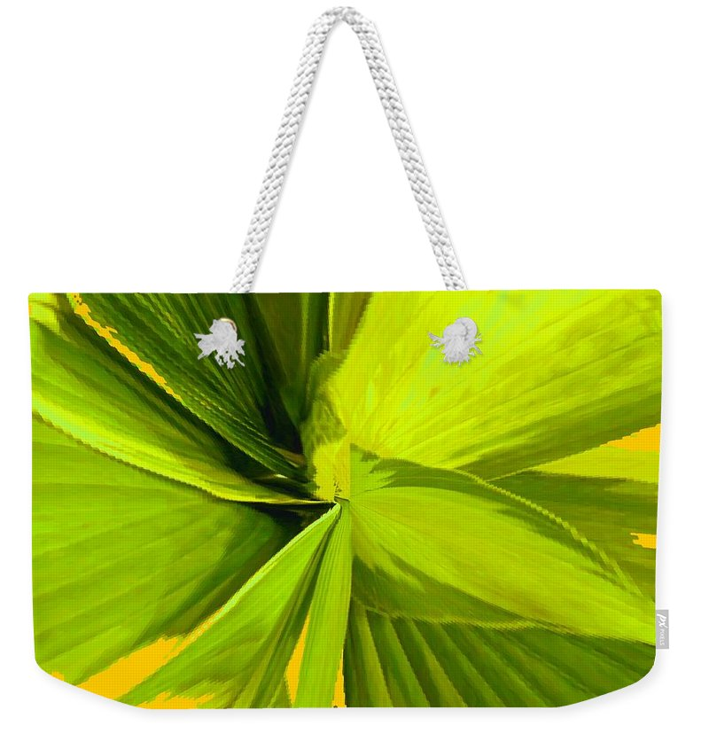 Plant Weekender Tote Bag featuring the photograph Green Mosaic by Ian MacDonald
