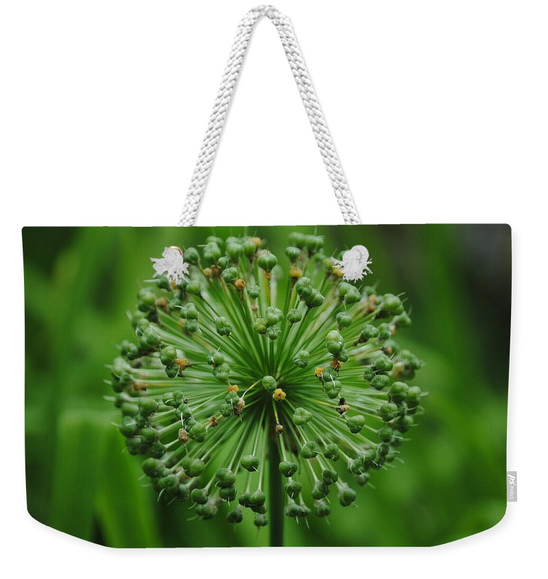 Green Weekender Tote Bag featuring the photograph Green On Green by Eric Liller