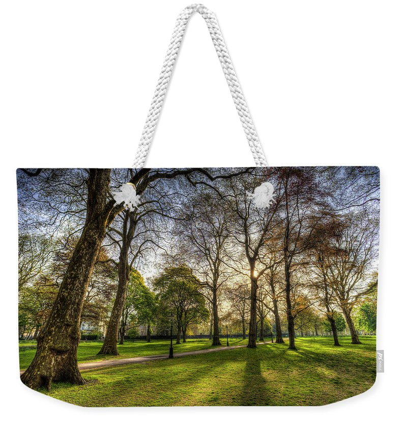 Green Park London Weekender Tote Bag featuring the photograph Green Park London by David Pyatt