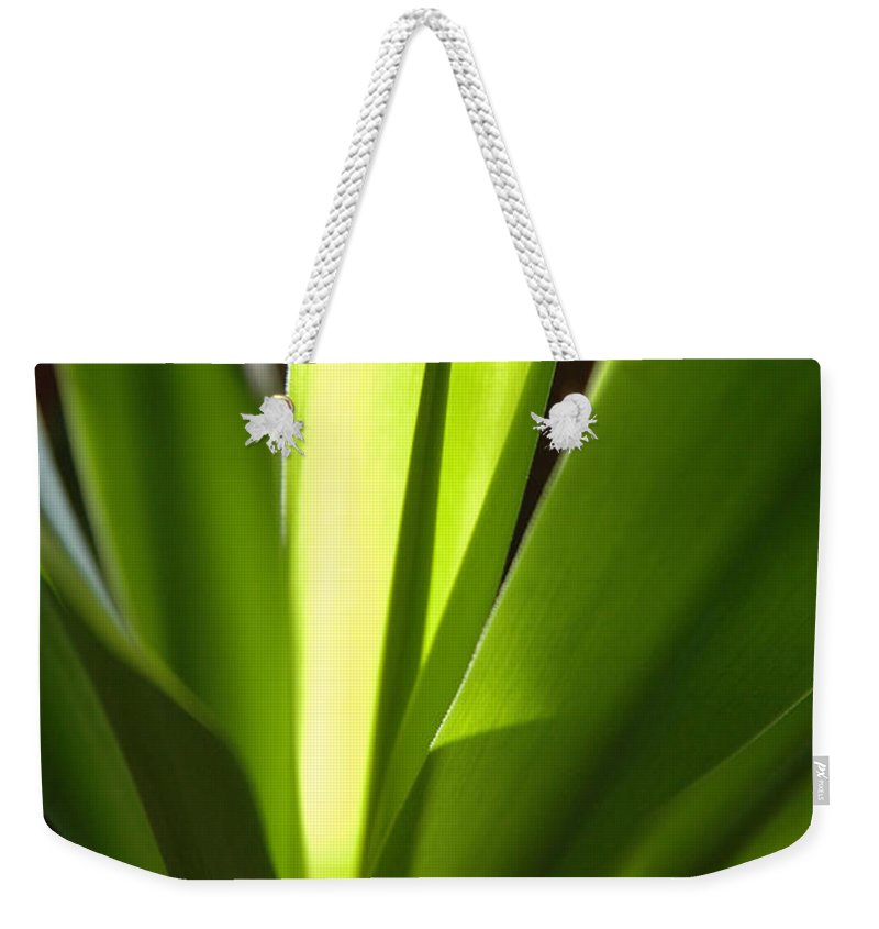 Green Weekender Tote Bag featuring the photograph Green Patterns by Jerry McElroy