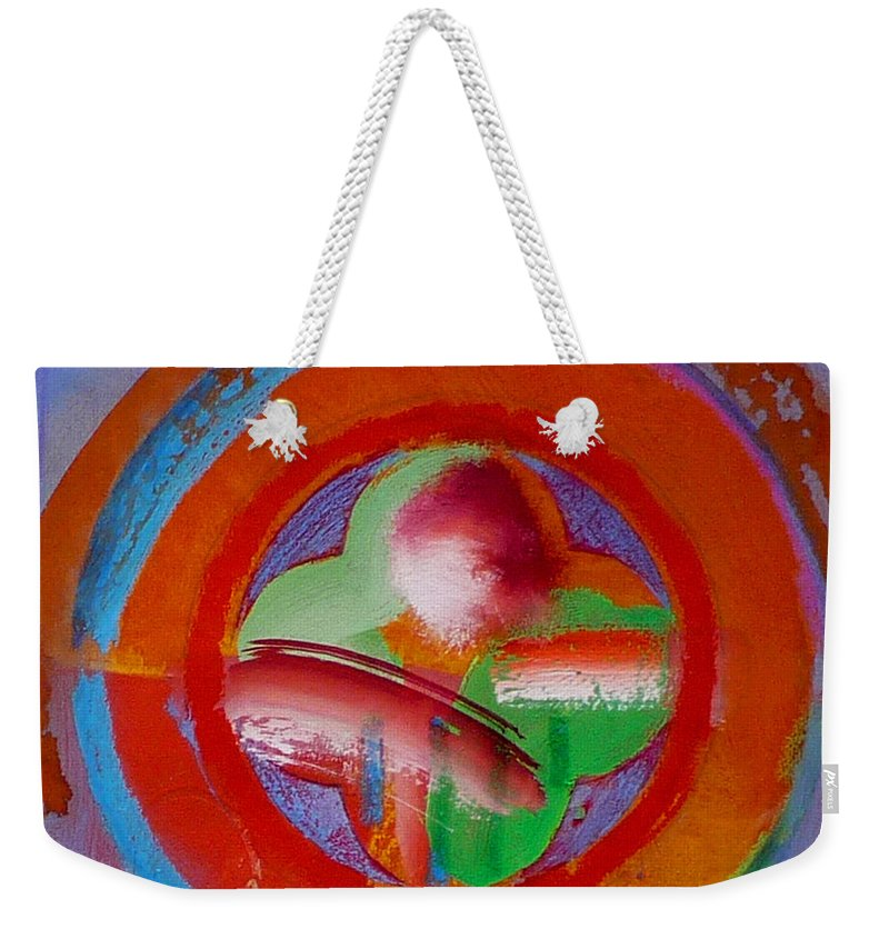 Love Weekender Tote Bag featuring the painting Green Planet by Charles Stuart
