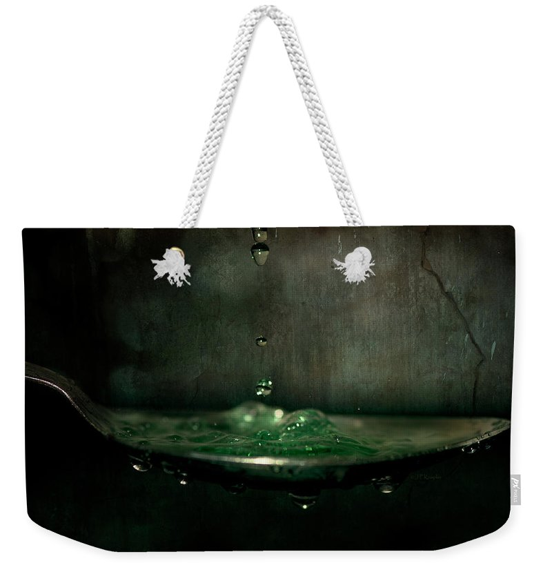 Knapko Weekender Tote Bag featuring the photograph Green Potion In Motion by John Knapko