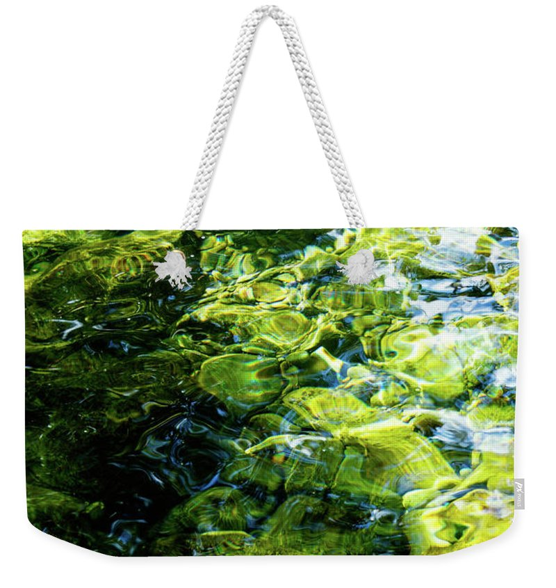 Tim Dussault Weekender Tote Bag featuring the photograph Green Reflection by Tim Dussault
