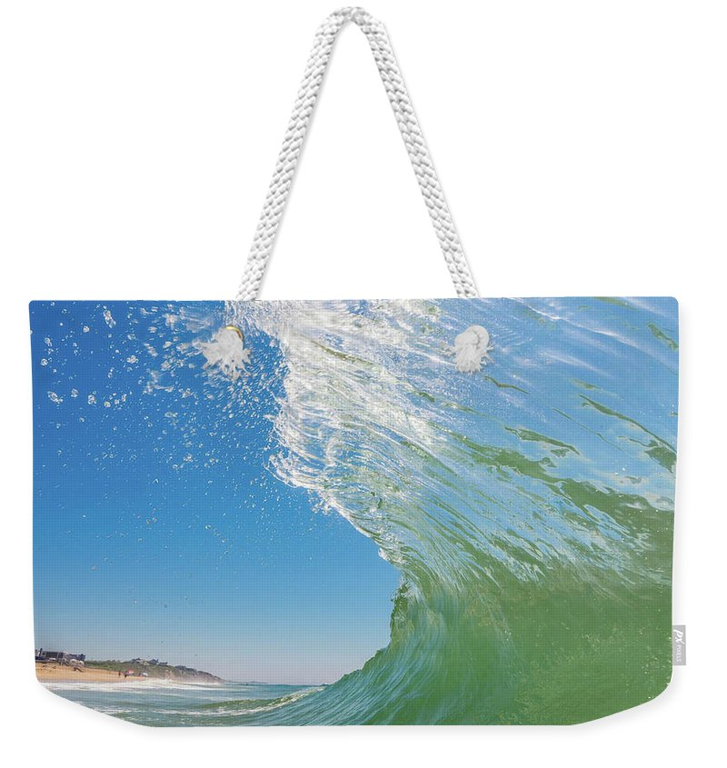 Weekender Tote Bag featuring the photograph Green Room by Ronnie Walker