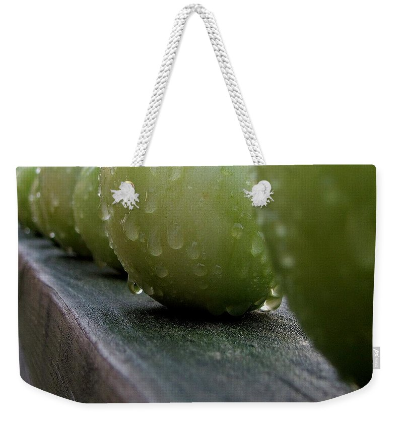 Green Tomato Weekender Tote Bag featuring the photograph Green Tomato's by Robert Meanor