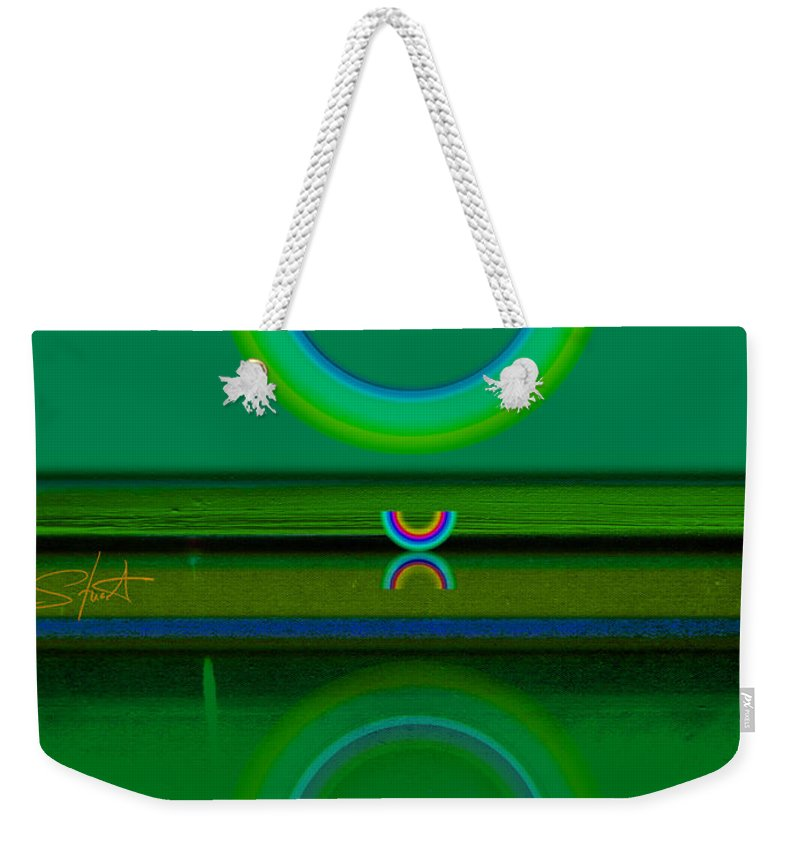 Green Weekender Tote Bag featuring the painting Green Water by Charles Stuart