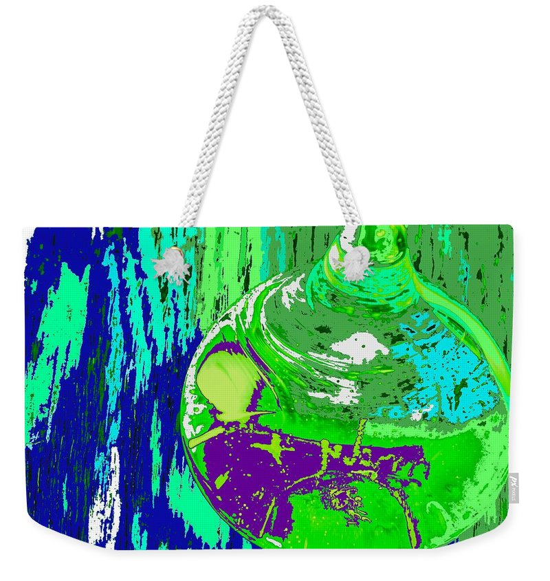 Abstract Weekender Tote Bag featuring the photograph Green Whirl by Ian MacDonald