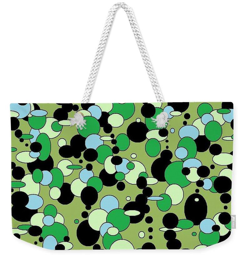 Weekender Tote Bag featuring the digital art Greenies by Jordana Sands