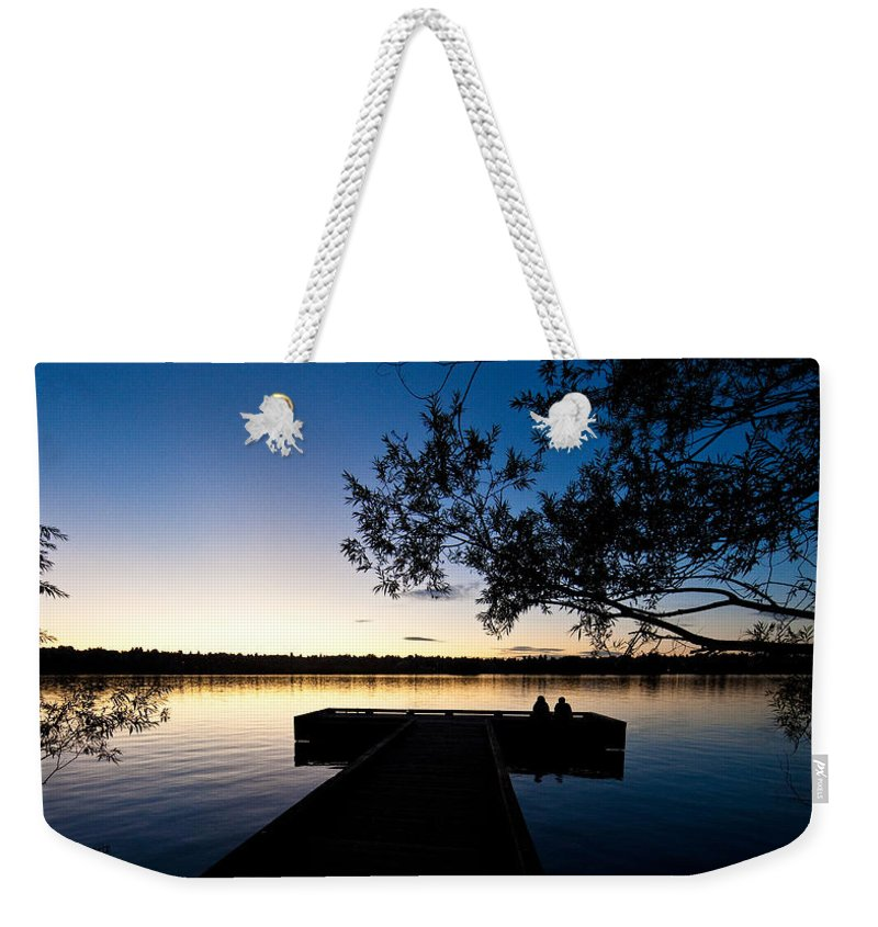 Greenlake Weekender Tote Bag featuring the photograph Greenlake Sunset by Mike Reid