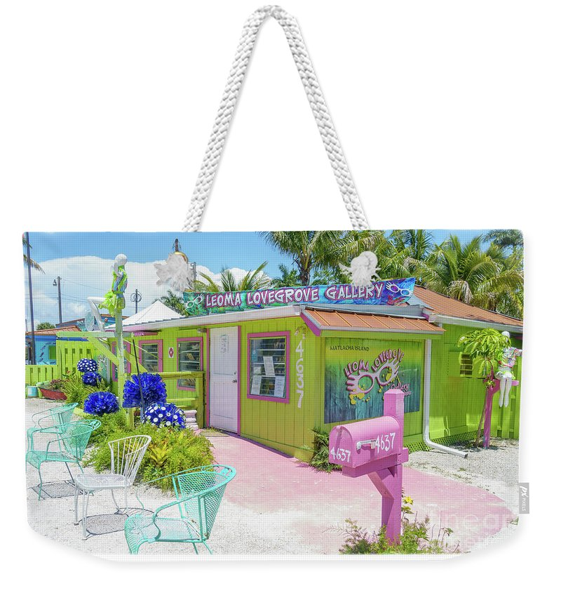 Florida Weekender Tote Bag featuring the photograph Greetings From Matlacha Island Florida by Edward Fielding