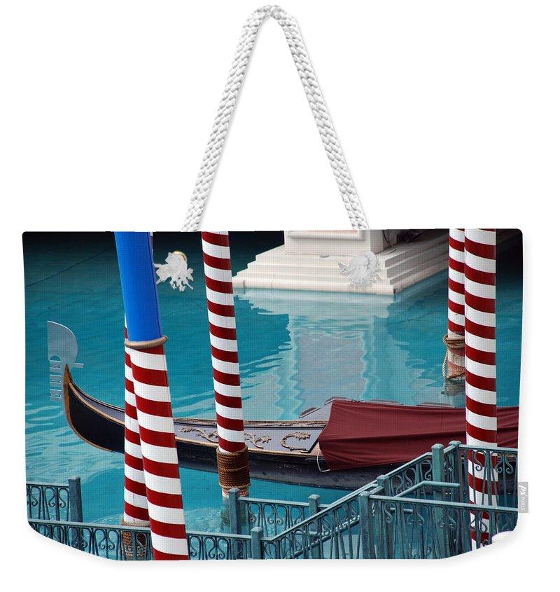 Las Vegas Weekender Tote Bag featuring the photograph Greetings From Venice by Susanne Van Hulst