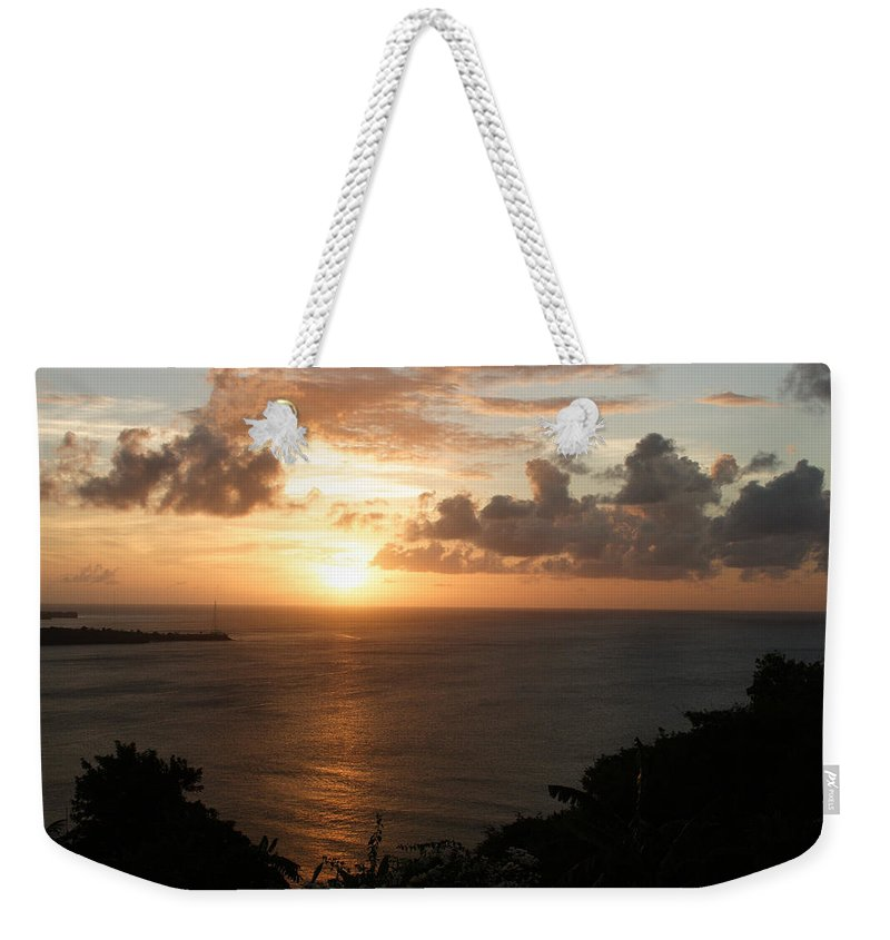 Grenada Weekender Tote Bag featuring the photograph Grenadian Sunset I by Jean Macaluso
