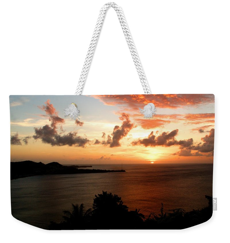Sunset Weekender Tote Bag featuring the photograph Grenadian Sunset II by Jean Macaluso