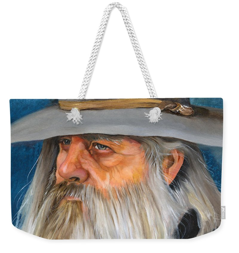 Wizard Weekender Tote Bag featuring the painting Grey Days by J W Baker