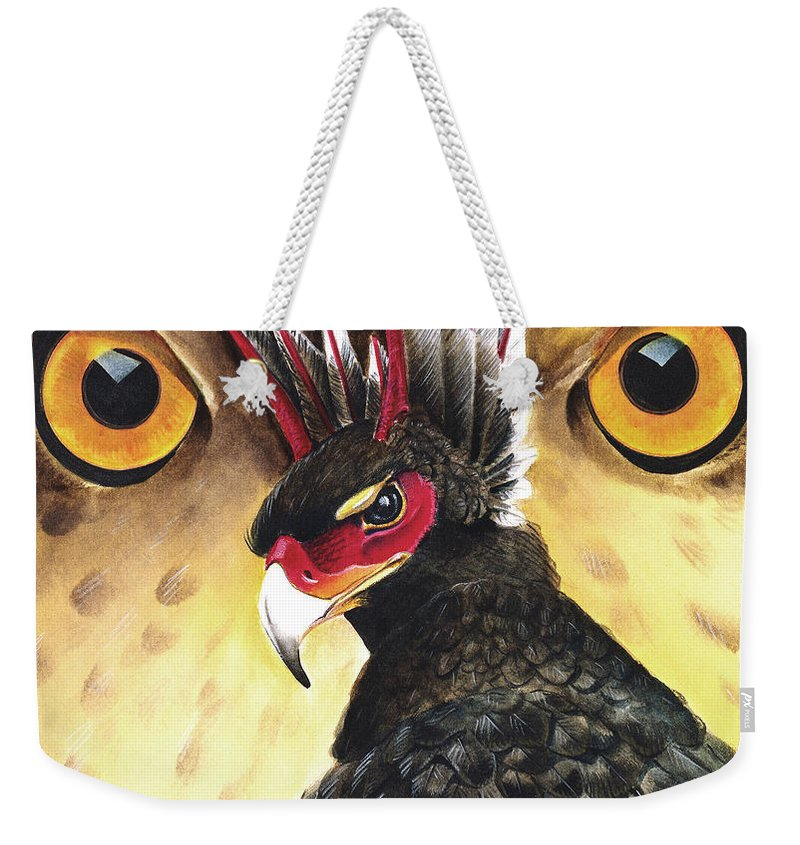 Griffin Weekender Tote Bag featuring the painting Griffin Sight by Melissa A Benson