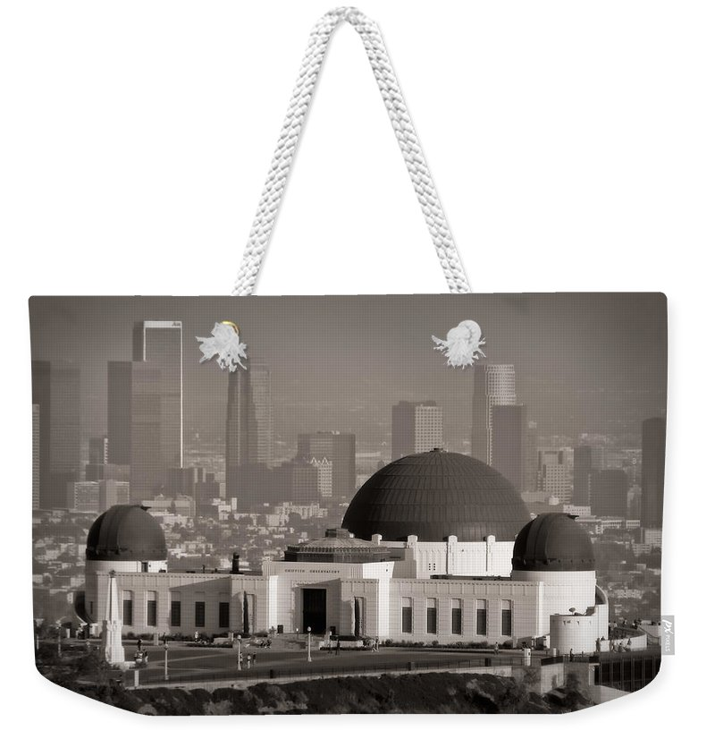 3scape Weekender Tote Bag featuring the photograph Griffith Observatory by Adam Romanowicz