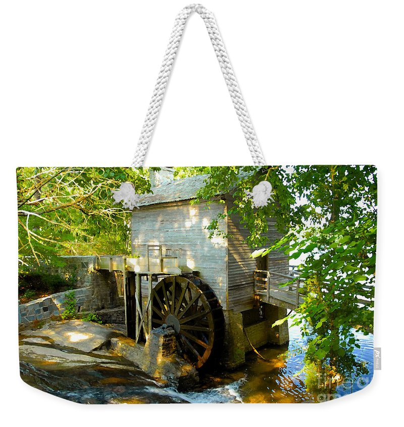 Grist Mill Weekender Tote Bag featuring the photograph Grist Mill by David Lee Thompson