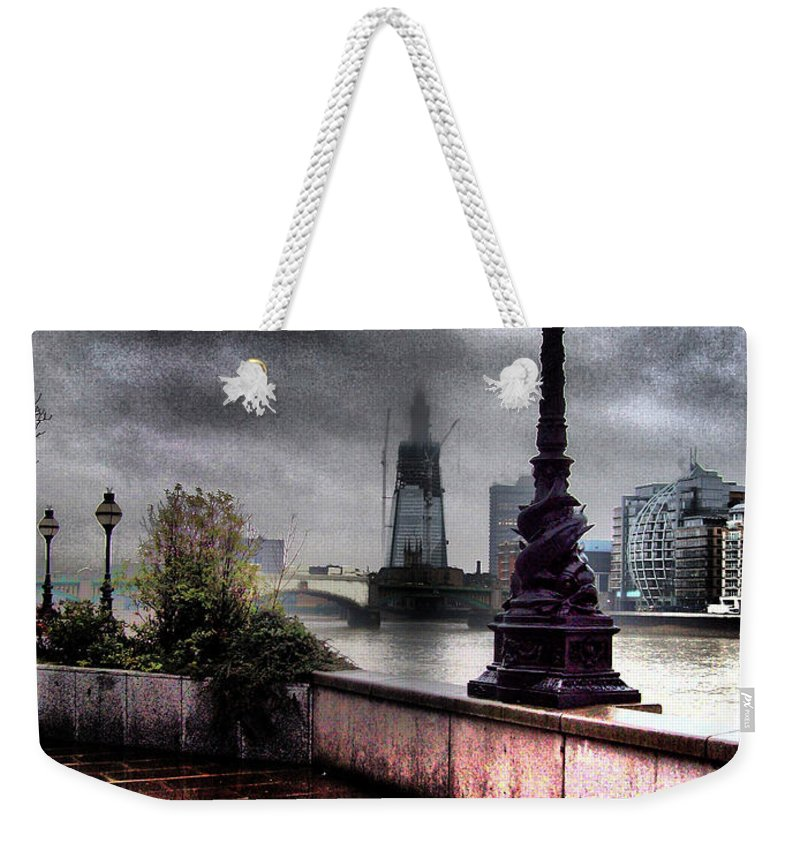 London Weekender Tote Bag featuring the photograph Gritty Urban London Landscape by Martin Newman