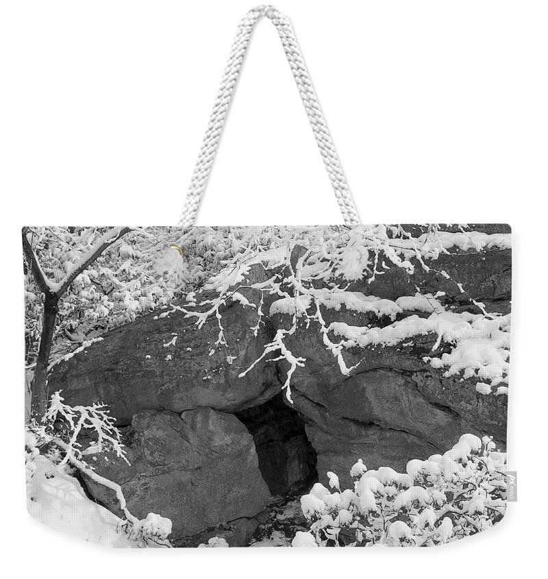 Winter Wonderland Weekender Tote Bag featuring the photograph Grotto by Yuri Lev