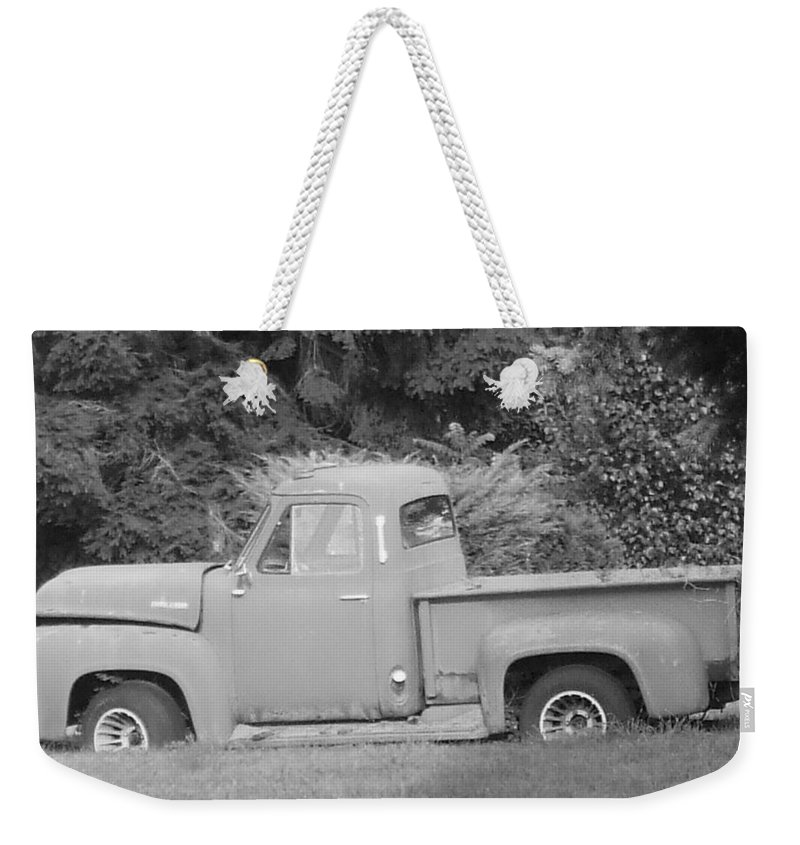 Truck Weekender Tote Bag featuring the photograph Grounded Pickup by Pharris Art