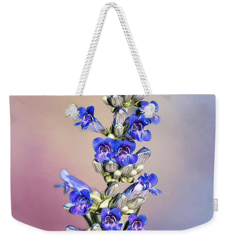 Background Weekender Tote Bag featuring the photograph Growing Wild by Maria Coulson